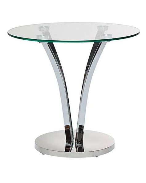 glass and chrome side table moritz chrome and glass side table j d williams