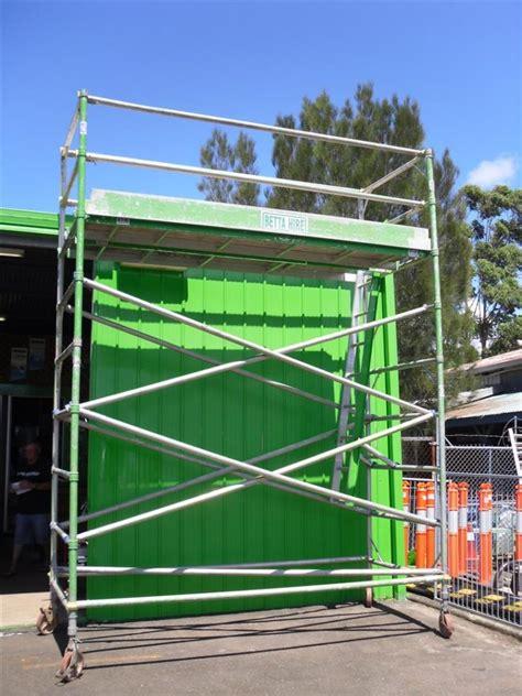 tilt n clean gutters scafold mobile aluminium better hire ballina