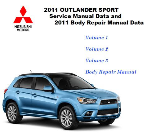 free car repair manuals 2011 mitsubishi outlander sport interior lighting 2011 2012 mitsubishi outlander sport rvr 2 0l service manual cd rom repair shop ebay