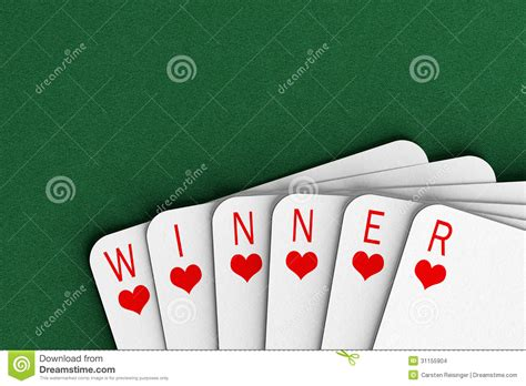 Card Winner by Winning Stock Images Image 31155904
