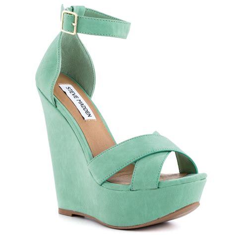 green wedge sandals crafty sandals