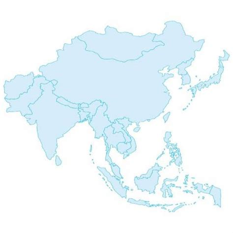 Asia Pacific Region Map Outline by Blank Map Of Asia Pacific Derietlandenexposities