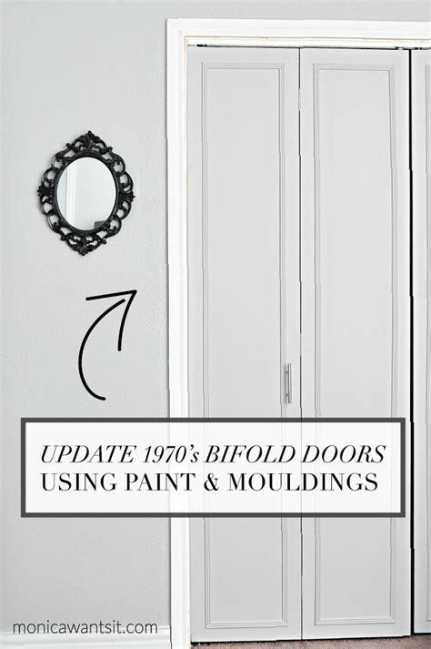diy closet door update how to update your old bi fold how to update 1970 s bi fold closet doors monica wants it