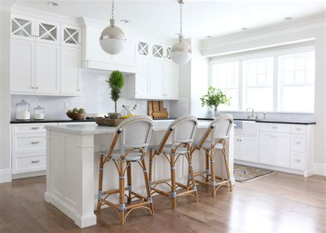 Riviera Kitchen Cabinets by Serena And Lily Riviera Stools Transitional Kitchen