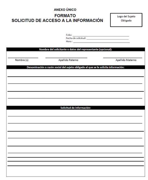 formato de solicitud de informacion publica dof diario oficial de la federaci 243 n