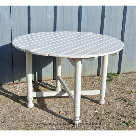 table ronde bois jardin table jardin ronde bois table exterieur pas cher