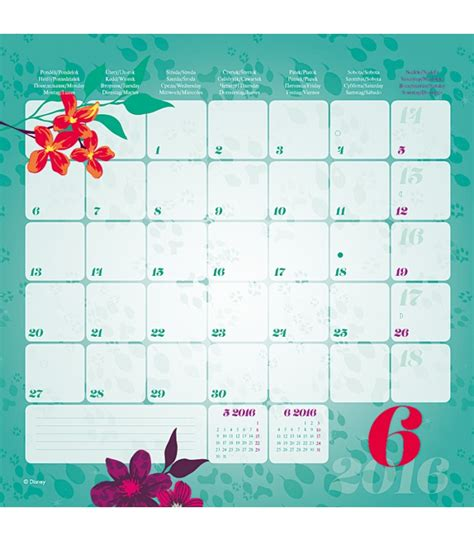 Disney Calendar 2016 Wall Calendar Walt Disney V 237 Ly 2016