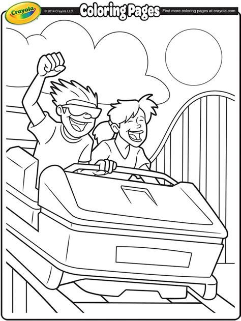 Roller Coaster Coloring Page roller coaster ride coloring page crayola