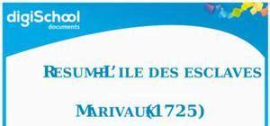 Resume L Ile Des Esclaves by Fiche Lecture Marivaux L Ile Des Esclaves