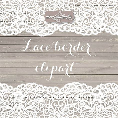 Rustic Wedding Border by Vector Wedding Clipart Lace Border Rustic Clipart Shabby