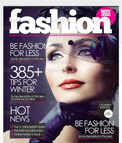 50 indesign psd magazine cover layout templates web