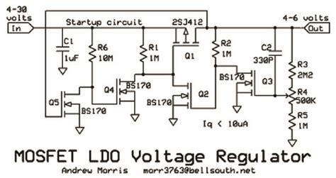 transistor fet regulator tv mosfet ldo voltage regulator by andrew r morris