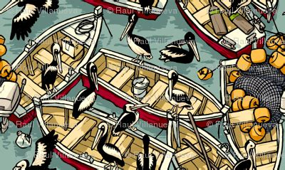 pelican boats customer service boats pelicans fabric raul spoonflower