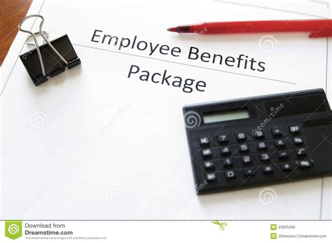 employee benefits package royalty free stock image image 23231246