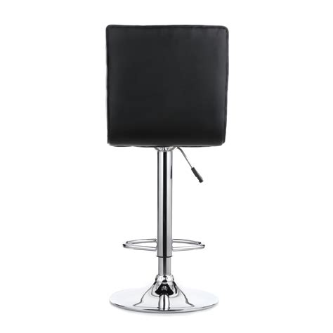 heavy duty bar chairs set of 2 pu leather pneumatic swivel bar stools chairs