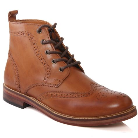 mens leather desert boots uk unze mens clarendon all leather desert brogue lace up