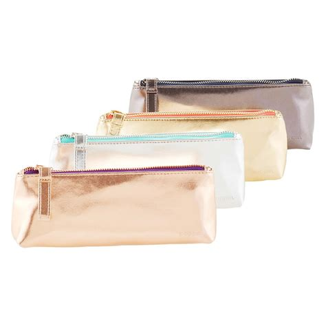 Pencil Pouch poppin metallic pencil pouch the container store