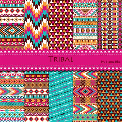 tribal pattern colorful new item added to my shop tribal digital paper colorful