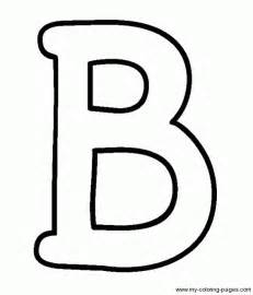 coloring capital letters b fun things pinterest