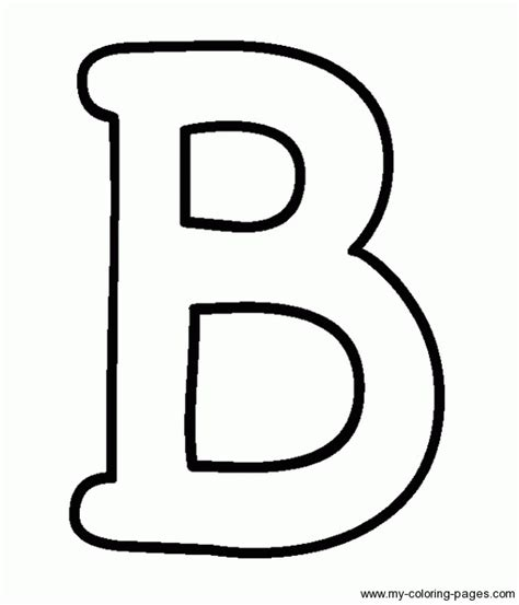 Capital B Coloring Page capital letter b coloring page get coloring pages