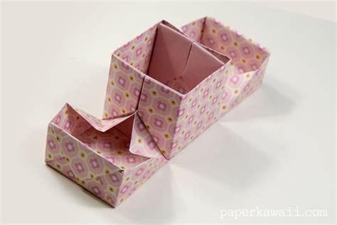Box In A Box Origami - origami hinged box tutorial paper kawaii