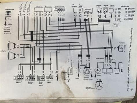Honda Fourtrax 300 Electrical Diagram