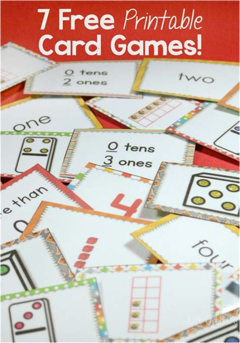 printable number board games 7 free card games for counting to five and much more