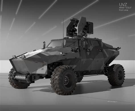 concept armored vehicle eugene shushliamin polygonal military light weight vehicle
