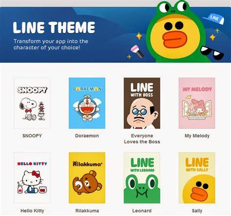 download themes line for ios cara mengganti tema line secara gratis copasin