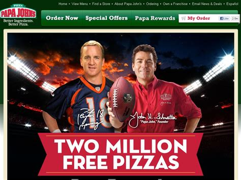 Papa John S Pizza Giveaway - papa john s two million pizza giveaway sweepstakes