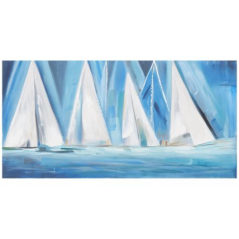 boat canvas art city furniture boats blue canvas wall art