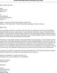 research assistant cover letter sle research assistant cover letter exles cover letter