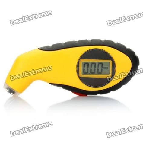 Murah Digital Lcd Tire Pressure 1 quot lcd digital tire pressure yellow free shipping dealextreme