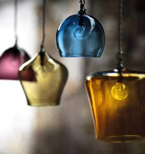 Handmade Glass Lighting - interior decorating with handmade colored glass