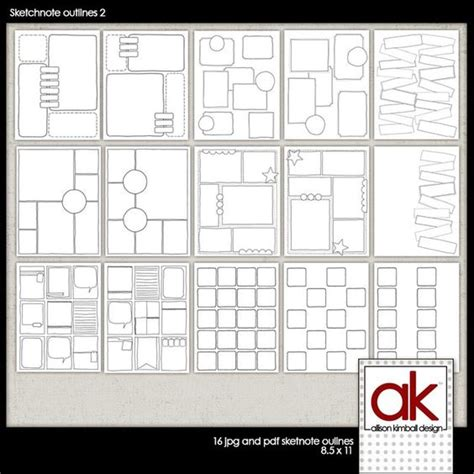 facility layout journal pdf allison kimball sketchnote journal blank template page