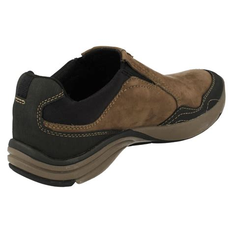 mens clarks active wear outdoor casual shoes wave travel