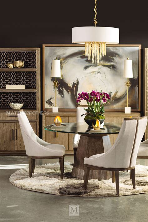 modern  glass top dining table  medium oak mathis