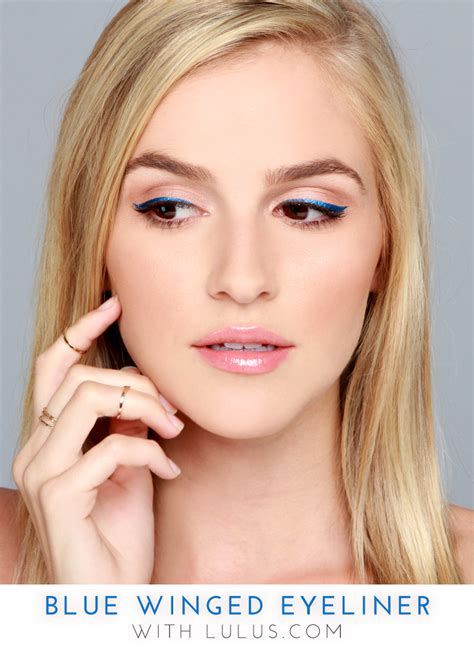 Summer 06 Makeup Trend Eyeliner by Trend To Try Blue Winged Eyeliner Lulus Fashion