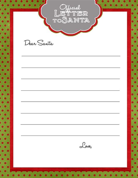 santa letter template 281 designs letter to santa