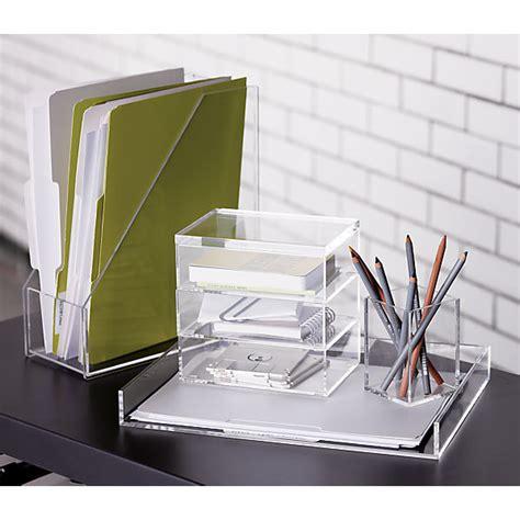 clear acrylic desk accessories format desk accessories cb2
