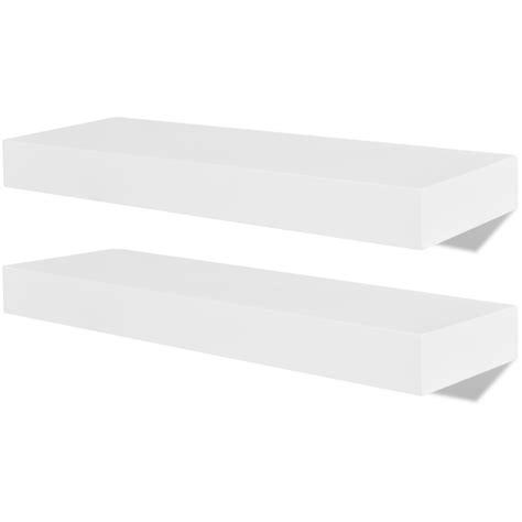 mensole bianche articoli per 2 mensole per pareti bianche mdf per libri