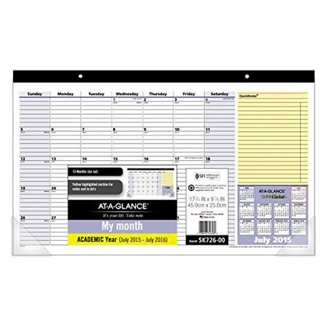 Calendar Lookup 038576316560 Upc At A Glance Compact Monthly Desk Pad