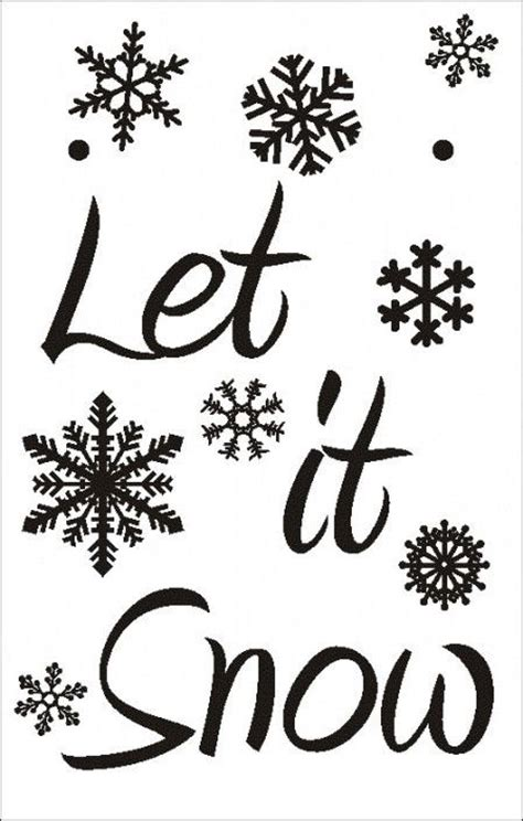 let it snow template christmas stuff pinterest let