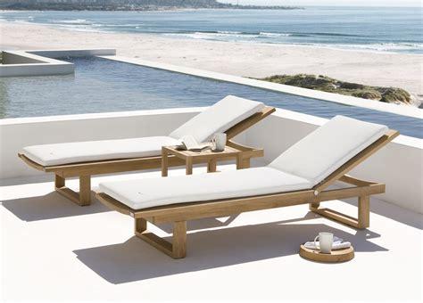 outdoor furniture loungers manutti siena teak sun lounger modern garden furniture