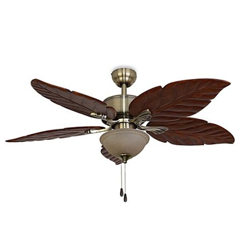 bed bath and beyond ceiling fans 52 inch tortuga aged brass ceiling fan bed bath beyond