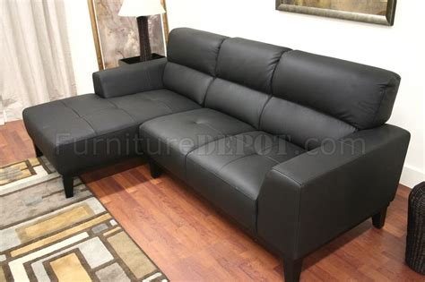 Black Leather L Shaped Sofa Black Leather Contemporary L Shaped Sofa Sectional W High Back