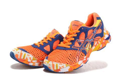 asics 10 orange blue womens shoes