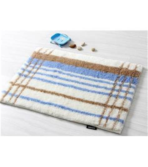Blue And Brown Bathroom Rugs by Popular Brown And Blue Stripe Bath Rug Floor Mats Da6143 1