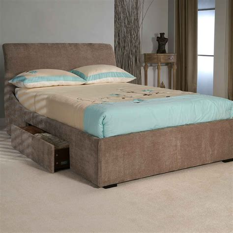 Upholstered Bed With Drawers Limelight Oberon Upholstered Bed Frame With Storage Drawers