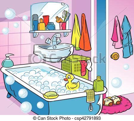 badezimmer clipart eps vektoren inneneinrichtung badezimmer karikatur